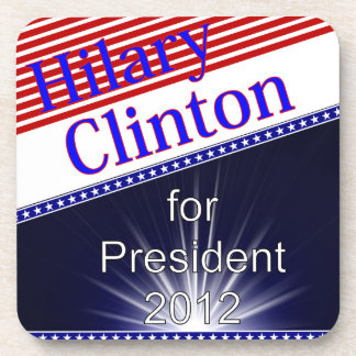 Hilary Clinton For President Explosion Beverage Coaster