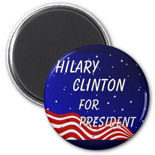 Hilary Clinton For President Night Sky Refrigerator Magnet