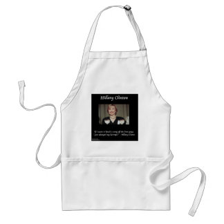 Hilary Clinton Hairstyles & Headlines Quote Adult Apron