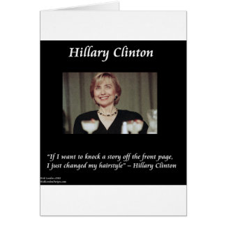 Hilary Clinton Hairstyles & Headlines Quote Cards