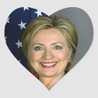 Hilary Clinton heart sticker