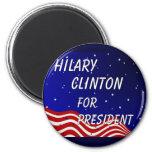 Hilary Clinton para el presidente cielo nocturno Imán Para Frigorífico