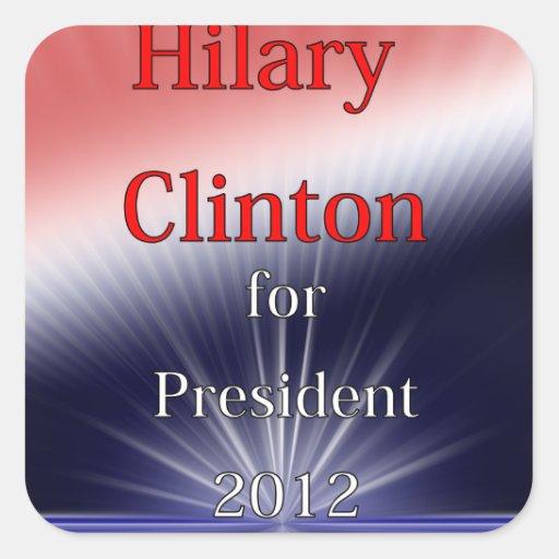 Hilary Clinton para Explosion de presidente Dulled Pegatina Cuadrada