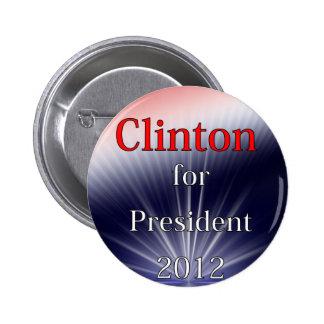 Hilary Clinton para Explosion de presidente Dulled Pin