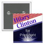 Hilary Clinton para presidente Explosion Pins