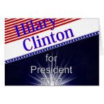 Hilary Clinton para presidente Explosion Felicitacion