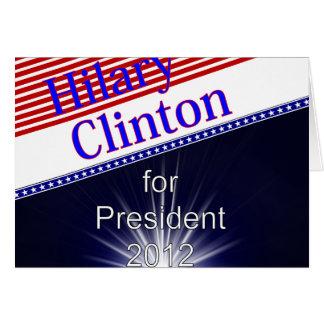Hilary Clinton para presidente Explosion Tarjeta De Felicitación