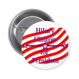 Hilary Clinton para presidente Strips With 3 prota Pin