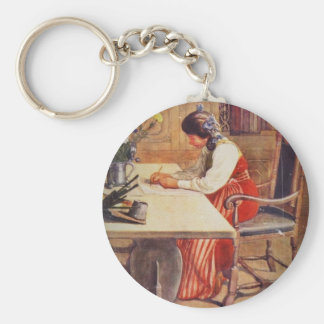 Hilda at the Art Table Keychains