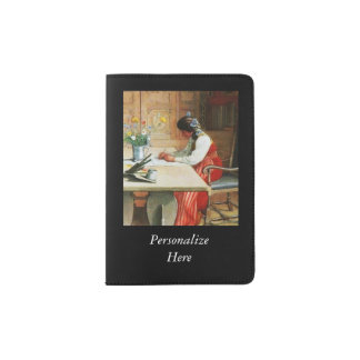 Hilda at the Drawing Table Passport Holder