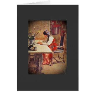 Hilda en la tabla del arte tarjetón