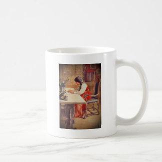 Hilda en la tabla del arte taza clásica