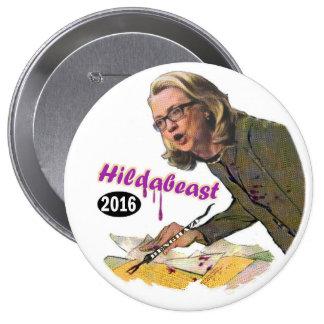Hildabeast: Hillary Clinton Button