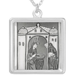 Hildegard of Bingen Square Pendant Necklace