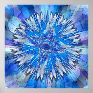 Hildegarde -- Floral Disk Poster