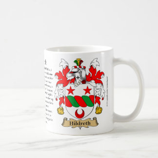 Hildreth, the Origin, the Meaning and the Crest Coffee Mug