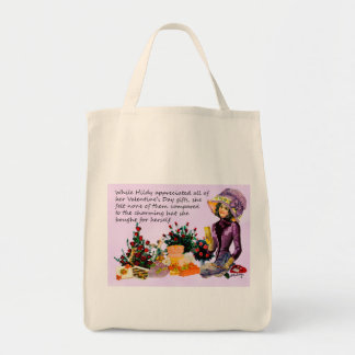 Hildy and Her Hat Digital Collage Tote Bag