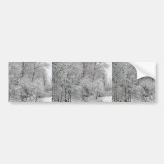Hilera de árboles helada pegatina para auto