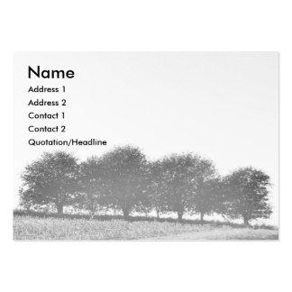 Hilera de árboles tarjetas de visita grandes