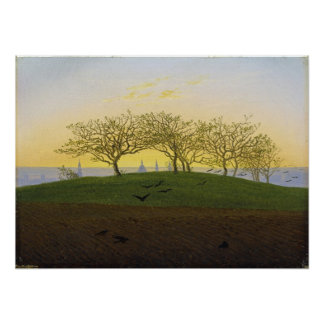 Hill and Ploughed Field Near Dresden Poster