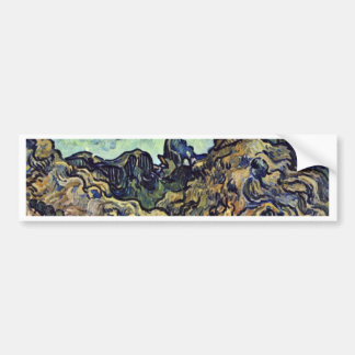 Hill At Saint-Remy By Vincent Van Gogh Car Bumper Sticker
