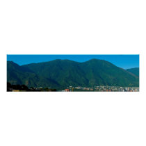 Hill Avila and valley of Caracas Posters