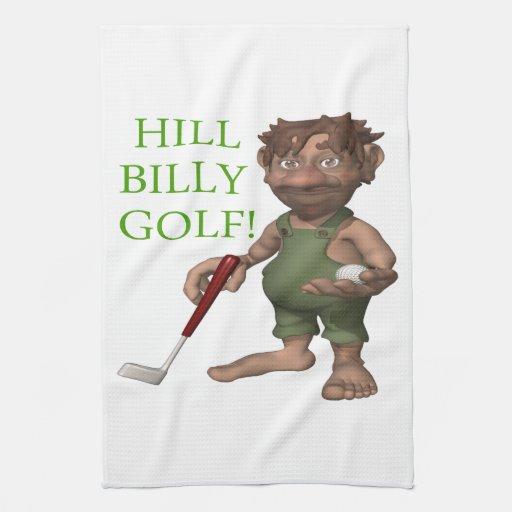 Hill Billy Golf Kitchen Towel