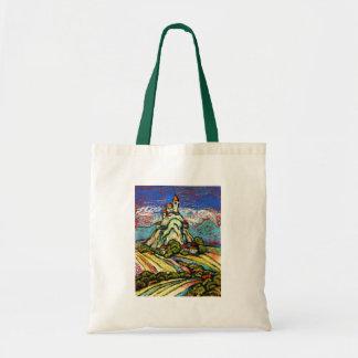 Hill Castle Fantasy Tote Bag