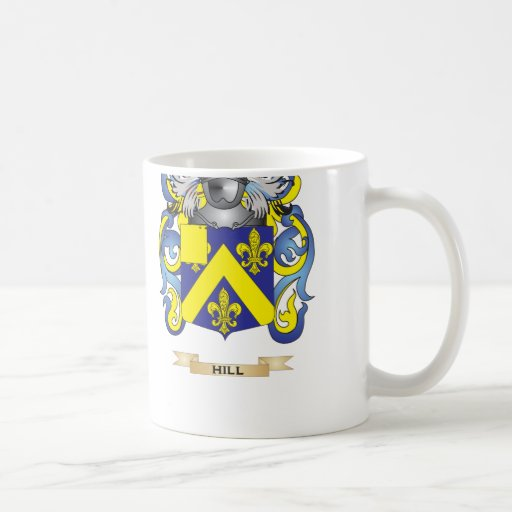 Hill Coat of Arms (Family Crest) Coffee Mugs