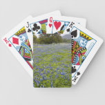 Hill Country, Texas, Bluebonnets and Oak tree Bicycle Poker Cards