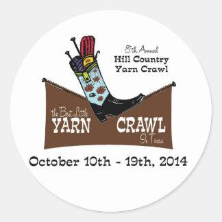 Hill Country Yarn Crawl Classic Round Sticker