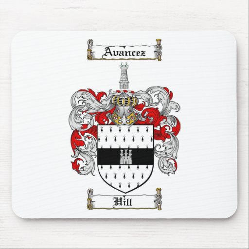HILL FAMILY CREST -  HILL COAT OF ARMS MOUSE MAT