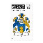 Hill Family Crest Postage Stamp