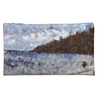 Hill heading out to sea cosmetic bag