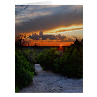 Hill Of Life Sunset - Barton Creek - Austin Texas Card