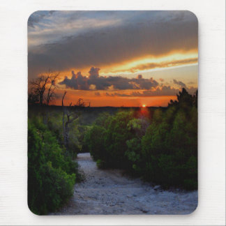 Hill Of Life Sunset - Barton Creek - Austin Texas Mouse Pad
