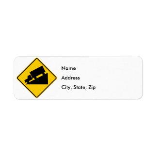 Hill or Steep Grade Warning Highway Sign Label