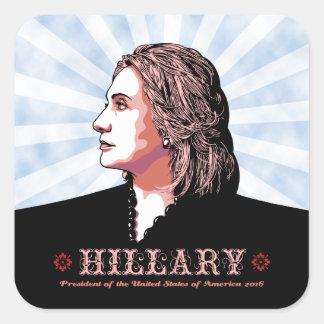 Hill Side Square Sticker