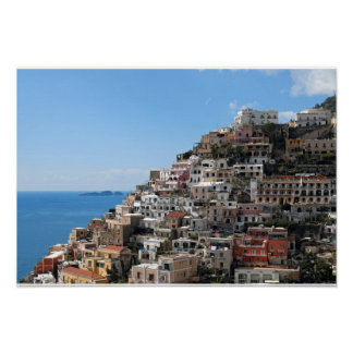 Hill-side Town of Positano on Amalfi Coast, Italy Poster