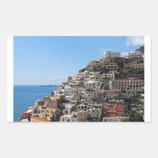 Hill-side Town of Positano on Amalfi Coast, Italy Rectangular Stickers