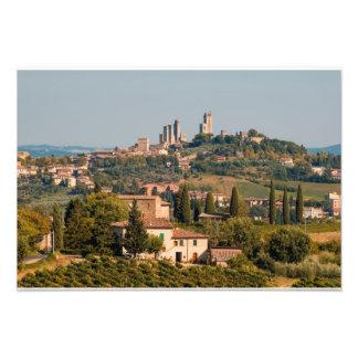 Hill town of of San Gimignano, Tuscany, Italy Photo Print