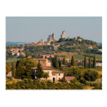Hill town of of San Gimignano, Tuscany, Italy Post Cards