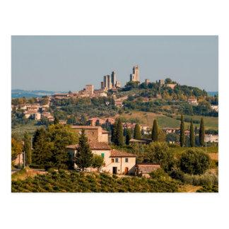 Hill town of of San Gimignano, Tuscany, Italy Postcard