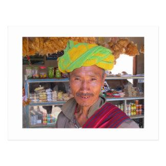 Hill Tribe Man near Kalaw, Myanmar Postcard
