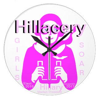 HILLACERY GIRLS SOAR HILLARY MADAM PRESIDENT WALLCLOCKS