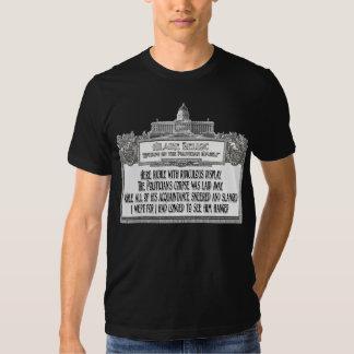 Hillaire Belloc's Poem:  The Politician's Funeral T-shirt