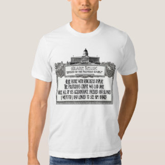 Hillaire Belloc's Poem:  The Politician's Funeral Tshirts