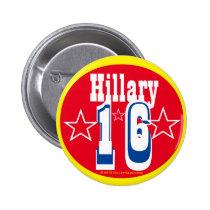 Hillary 16 2 inch round button