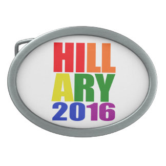 HILLARY 16 PRIDE -.png Oval Belt Buckles