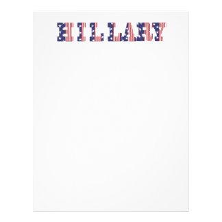 Hillary 16 rayas y estrellas de las elecciones membretes personalizados